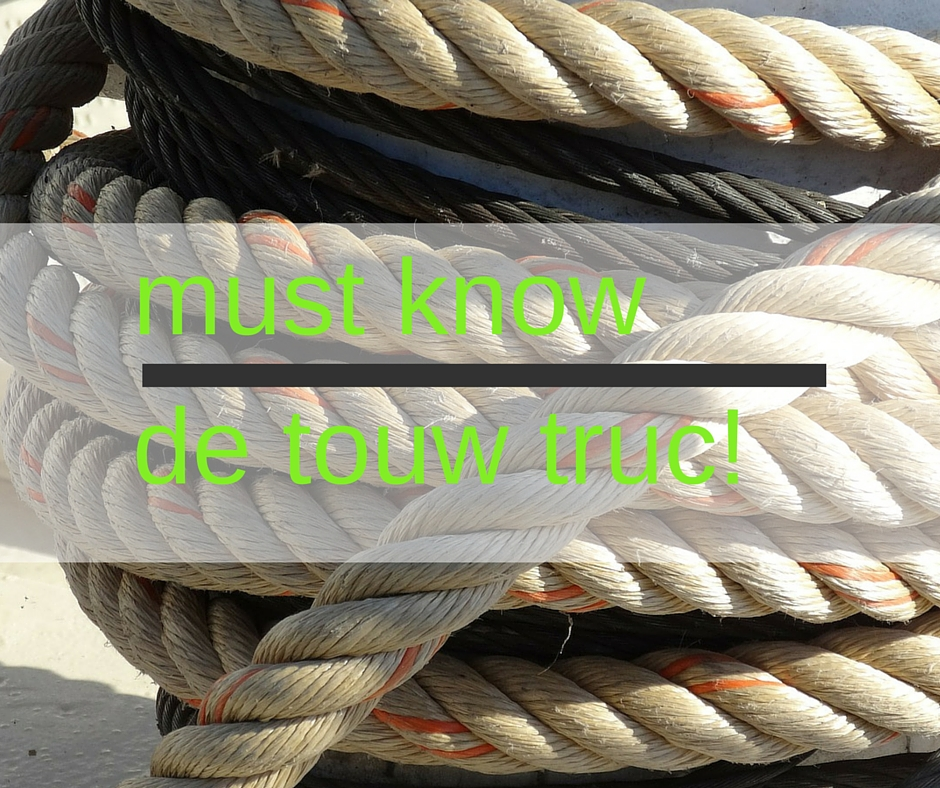 touw truc voor krullend haar